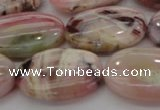 COP1277 15.5 inches 18*25mm oval natural pink opal gemstone beads