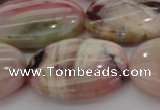 COP1279 15.5 inches 25*35mm oval natural pink opal gemstone beads