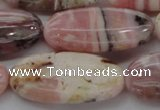 COP1282 15.5 inches 20*40mm oval natural pink opal gemstone beads