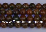 COP1360 15.5 inches 4mm round African green opal beads wholesale