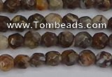 COP1386 15.5 inches 4mm faceted round fire lace opal beads