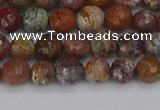 COP1393 15.5 inches 4mm faceted round African green opal beads