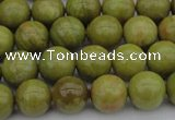 COP1402 15.5 inches 8mm round yellow opal gemstone beads