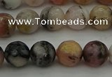 COP1414 15.5 inches 12mm faceted round natural pink opal gemstone beads