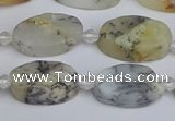 COP1431 15.5 inches 10*16mm oval white opal gemstone beads