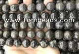 COP1448 15.5 inches 12mm - 13mm round blue opal gemstone beads
