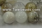 COP1453 15.5 inches 10mm round grey opal gemstone beads