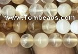 COP1456 15.5 inches 6mm round yellow opal gemstone beads