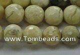 COP1472 15.5 inches 8mm faceted round African opal gemstone beads