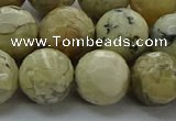 COP1474 15.5 inches 12mm faceted round African opal gemstone beads