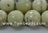 COP1475 15.5 inches 14mm faceted round African opal gemstone beads