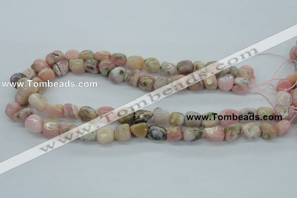 COP15 15.5 inches 10*12mm nugget natural pink opal beads wholesale