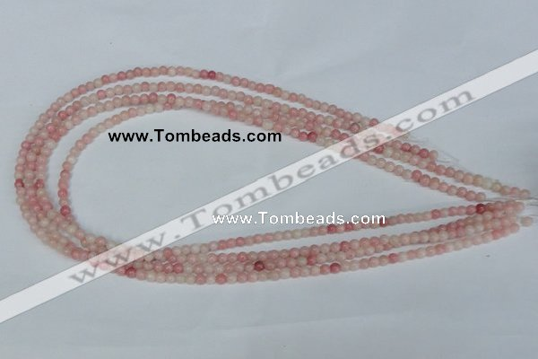 COP150 15.5 inches 4mm round pink opal gemstone beads wholesale