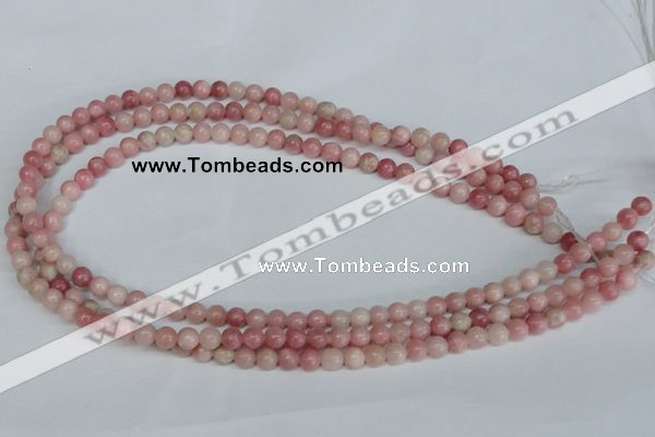 COP151 15.5 inches 6mm round pink opal gemstone beads wholesale
