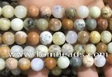 COP1570 15.5 inches 12mm round yellow moss opal beads wholesale