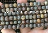 COP1580 15.5 inches 8mm round Australia brown green opal beads