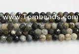 COP1611 15.5 inches 10mm faceted round moss opal beads