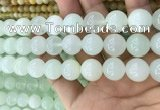 COP1639 15.5 inches 14mm round natural green opal beads