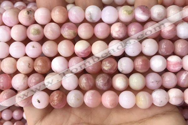COP1694 15.5 inches 8mm round natural pink opal gemstone beads