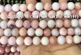 COP1695 15.5 inches 10mm round natural pink opal gemstone beads