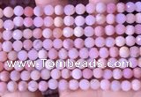 COP1741 15.5 inches 5mm - 5.5mm faceted round natural pink opal beads