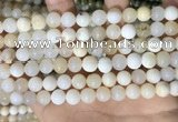 COP1754 15.5 inches 8mm round natural white opal gemstone beads