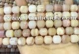 COP1775 15.5 inches 10*12mm tube pink opal gemstone beads