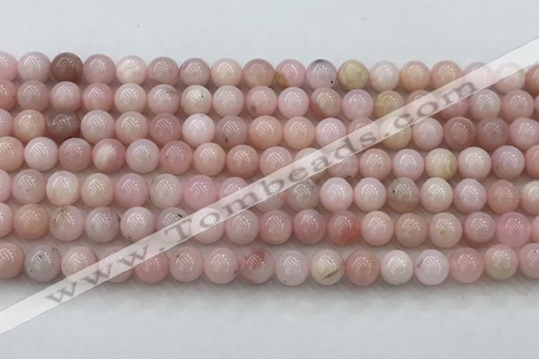 COP1780 15.5 inches 6mm round pink opal gemstone beads