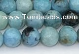COP1790 15.5 inches 6mm round blue opal gemstone beads