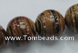COP200 15.5 inches 20mm round natural brown opal gemstone beads