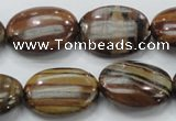 COP233 15.5 inches 18*25mm oval natural brown opal gemstone beads