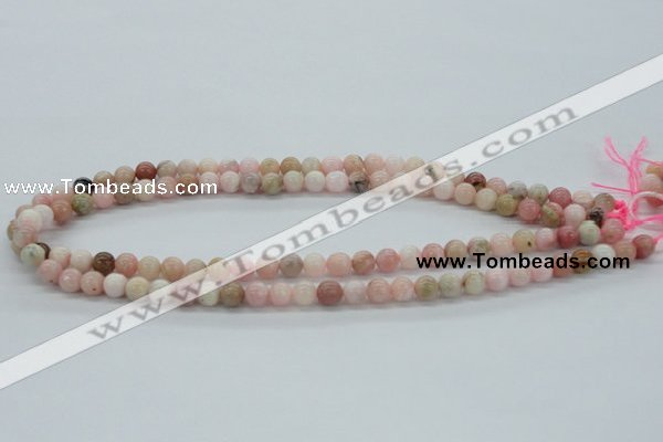 COP24 7mm smooth round natural pink opal beads Wholesale