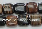 COP244 15.5 inches 14*14mm square natural brown opal gemstone beads