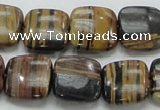 COP245 15.5 inches 16*16mm square natural brown opal gemstone beads