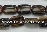 COP249 15.5 inches 12*16mm rectangle natural brown opal gemstone beads
