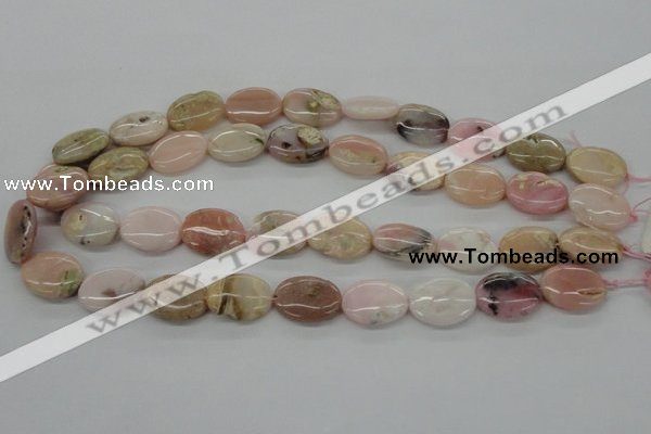 COP26 15*20mm oval natural pink opal gemstone beads Wholesale