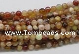 COP300 15.5 inches 4mm round brandy opal gemstone beads wholesale