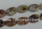COP315 15.5 inches 10*14mm oval brandy opal gemstone beads wholesale