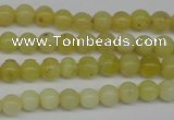 COP330 15.5 inches 4mm round yellow opal gemstone beads wholesale