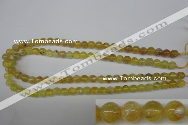 COP332 15.5 inches 8mm round yellow opal gemstone beads wholesale