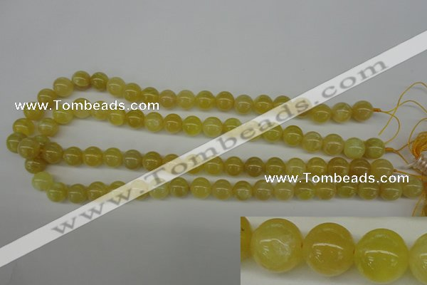 COP333 15.5 inches 10mm round yellow opal gemstone beads wholesale