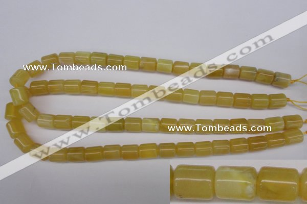 COP339 15.5 inches 10*12mm tube yellow opal gemstone beads