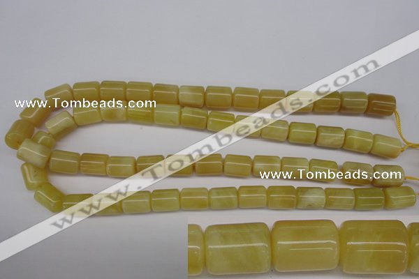 COP340 15.5 inches 10*14mm tube yellow opal gemstone beads
