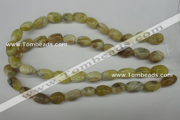 COP341 15.5 inches 10*14mm � 14*20mm nuggets yellow opal gemstone beads