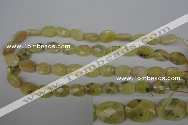 COP343 15.5 inches 13*18mm faceted oval yellow opal gemstone beads
