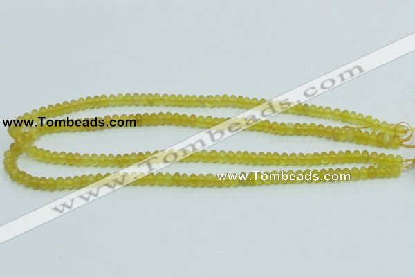 COP350 15.5 inches 4*6mm rondelle yellow opal gemstone beads wholesale