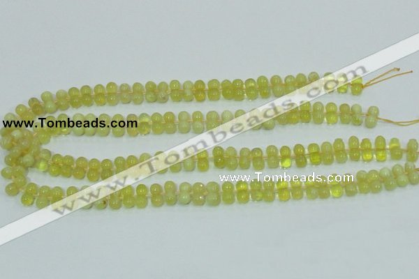 COP354 15.5 inches 6*12mm bone shape yellow opal gemstone beads