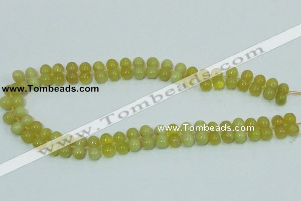 COP355 15.5 inches 8*16mm bone shape yellow opal gemstone beads