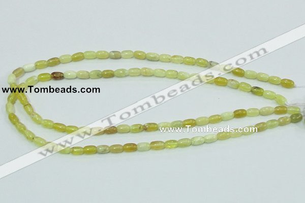 COP356 15.5 inches 5*8mm rice yellow opal gemstone beads wholesale