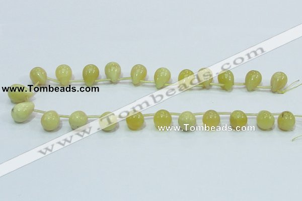 COP357 15.5 inches 13*18mm teardrop yellow opal gemstone beads